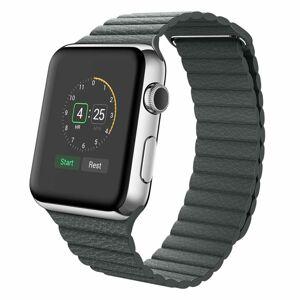 eses Kožený magnetický řemínek 38mm/40mm černý pro Apple Watch
