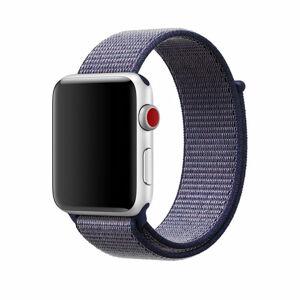 eses Nylonový řemínek 38mm/40mm tmavě modrý pro Apple Watch