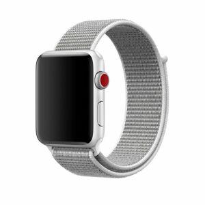 eses Nylonový řemínek 42mm/44mm stříbrný pro Apple Watch