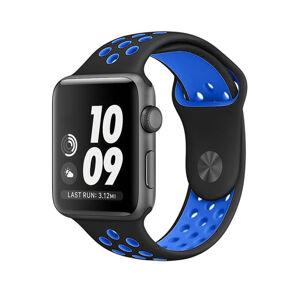 eses Sportovní řemínek 38mm/40mm černý/modrý pro Apple Watch