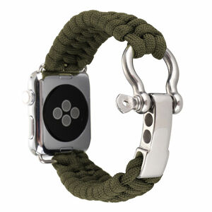 eses Řemínek Navy nylon 38mm/40mm zelený pro Apple Watch