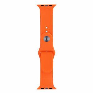 eses Silikonový řemínek 42mm/44mm oranžový pro Apple Watch