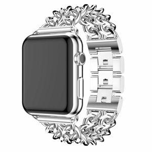 eses Kovový řetízkový řemínek 38mm/40mm stříbrný pro Apple Watch