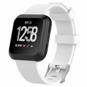 eses Sportovní silikonový řemínek bílý velikost S pro Fitbit Versa