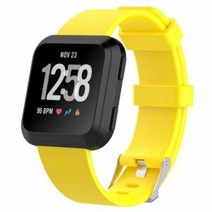 eses Sportovní silikonový řemínek žlutý velikost L pro Fitbit Versa