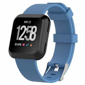 eses Sportovní silikonový řemínek modrý velikost L pro Fitbit Versa