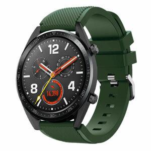 eses Silikonový řemínek zelený vojenský 22mm