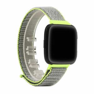 eses Nylonový řemínek zelený pro Fitbit Versa
