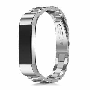 eses Kovový článkovitý řemínek stříbrný pro Fitbit Alta HR