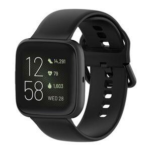 eses Silikonový řemínek černý velikost L pro Fitbit Versa