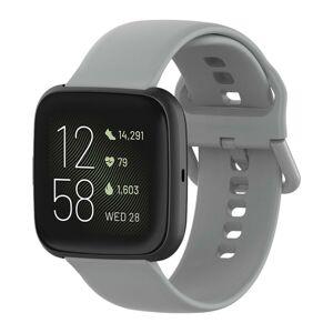 eses Silikonový řemínek šedý velikost S pro Fitbit Versa