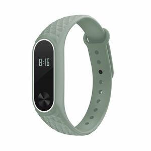 eses Náramek vzorovaný zeleno bílý pro Xiaomi Mi Band 2