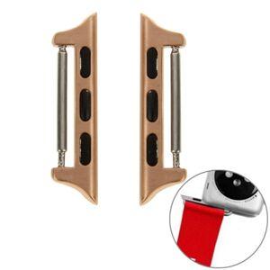 Pružinové magnetické konektory pro Apple Watch 42mm/44mm - růžovo zlatá