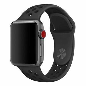 eses Silikonový řemínek 42mm/44mm S/M/L černý pro Apple Watch