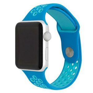 eses Silikonový řemínek 42mm/44mm S/M/L modrý/mátový pro Apple Watch