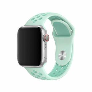 eses Silikonový řemínek 42mm/44mm S/M/L mátový/zelený pro Apple Watch