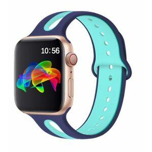 eses Dvoubarevný řemínek 38mm/40mm tyrkysový/modrý pro Apple Watch