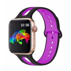 eses Dvoubarevný řemínek 42mm/44mm černý/fialový pro Apple Watch