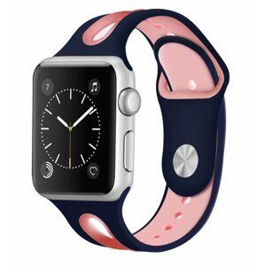 eses Dvoubarevný řemínek 42mm/44mm modrý/růžový pro Apple Watch