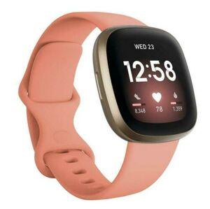 eses Silikonový řemínek růžový velikost S pro Fitbit Versa 3