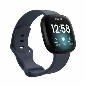 eses Silikonový řemínek modrošedý velikost L pro Fitbit Versa 3