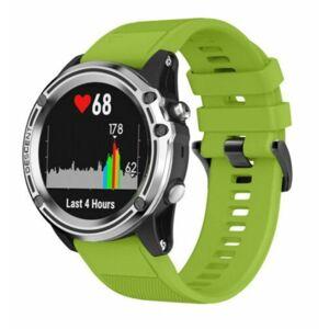 eses Silikonový řemínek zelený pro Garmin - EasyFit/QuickFit 22mm