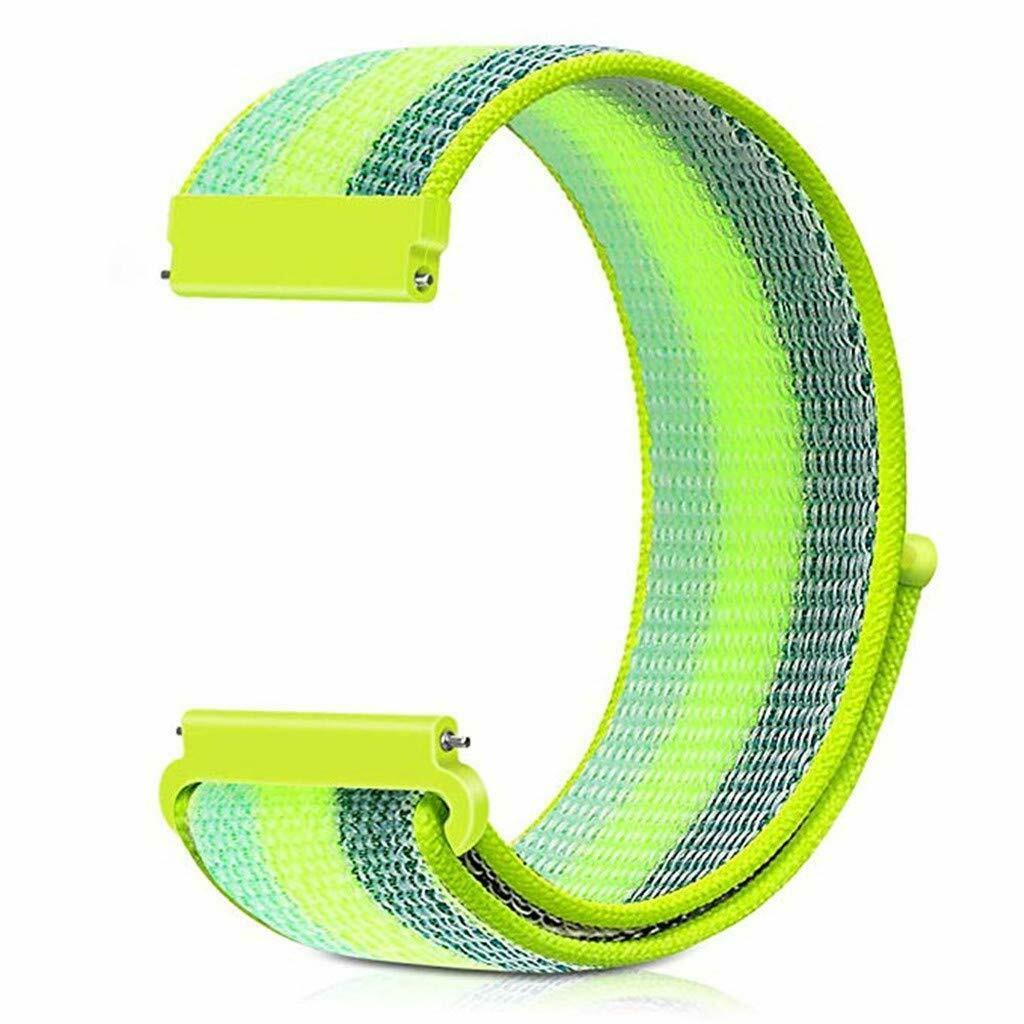 eses Nylonový řemínek neonový proužek na suchý zip 22mm