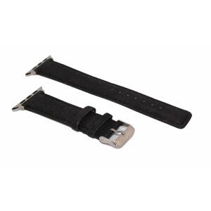 eses Korkový řemínek 42mm/44mm černý pro Apple Watch