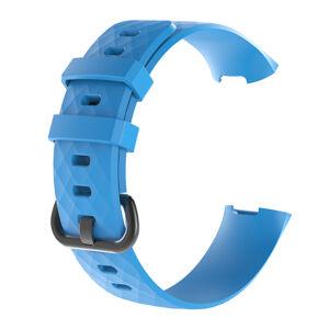 eses Silikonový řemínek modrý ve velikosti L pro Fitbit Charge 3