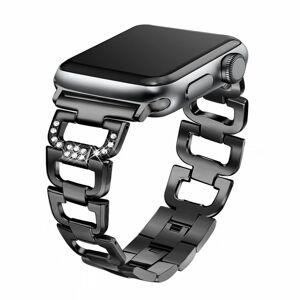 eses Kovový článkovitý řemínek 38mm/40mm černý pro Apple Watch