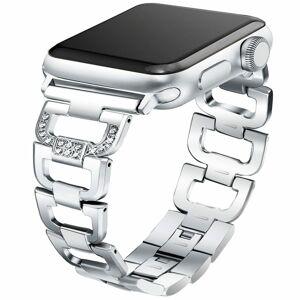 eses Kovový článkovitý řemínek 42mm/44mm stříbrný pro Apple Watch