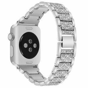 eses Kovový luxusní řemínek 38mm/40mm stříbrný pro Apple Watch