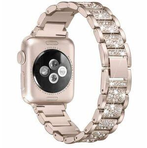 eses Kovový luxusní řemínek 38mm/40mm champagne pro Apple Watch