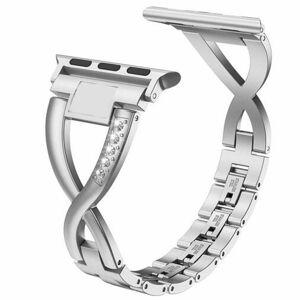 eses Kovový elegantní řemínek 38mm/40mm stříbrný pro Apple Watch