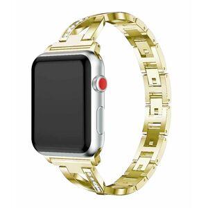 eses Kovový elegantní řemínek 42mm/44mm zlatý pro Apple Watch