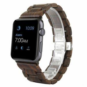eses Dřevěný řemínek 38mm/40mm hnědý pro Apple Watch