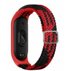 eses Tkaný elastický řemínek červeno černý pro Xiaomi Mi Band 4/5/6