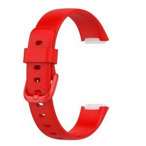 eses Silikonový řemínek červený velikost L pro Fitbit Luxe