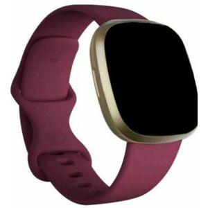 eses Silikonový řemínek vínový velikost S pro Fitbit Versa 3