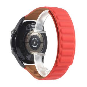 eses Silikonový magnetický řemínek červený 22mm