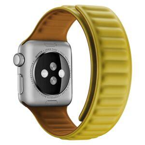 eses Silikonový magnetický řemínek 38mm/40mm žlutý pro Apple Watch