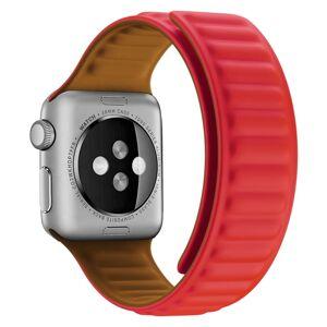 eses Silikonový magnetický řemínek 42mm/44mm červený pro Apple Watch