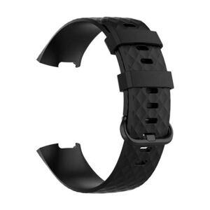 eses Silikonový řemínek černý ve velikosti S pro Fitbit Charge 3